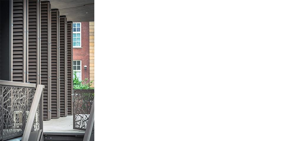Unieke shutters toegepast in gevel van Villa Carnegie